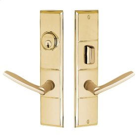 Polished Brass Houston Escutcheon Entrance Set
