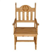 Wood Seat Star Arm Chair