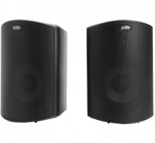 "All Weather Outdoor Loudspeakers with 4.5"" Drivers and 3/4"" Tweeters in Black"