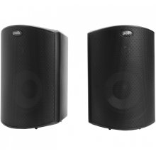 """All Weather Outdoor Loudspeakers with 4.5"""" Drivers and 3/4"""" Tweeters in Black"""
