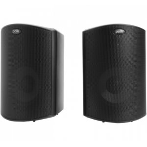"Polk AudioAll Weather Outdoor Loudspeakers with 4.5"" Drivers and 3/4"" Tweeters in Black"