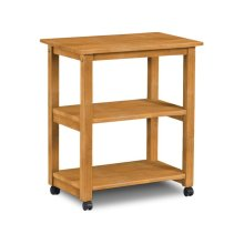 Microwave Cart with Two fixed shelves