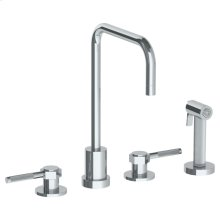 Deck Mounted 4 Hole Kitchen Set - Includes Side Spray