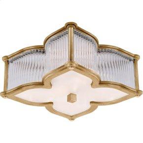 Visual Comfort AH4018NB/CG-FG Alexa Hampton Lana 2 Light 15 inch Natural Brass with Clear Glass Flush Mount Ceiling Light