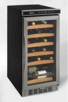 "30 Bottle 15"" wide Wine Chiller with Electronic Display"