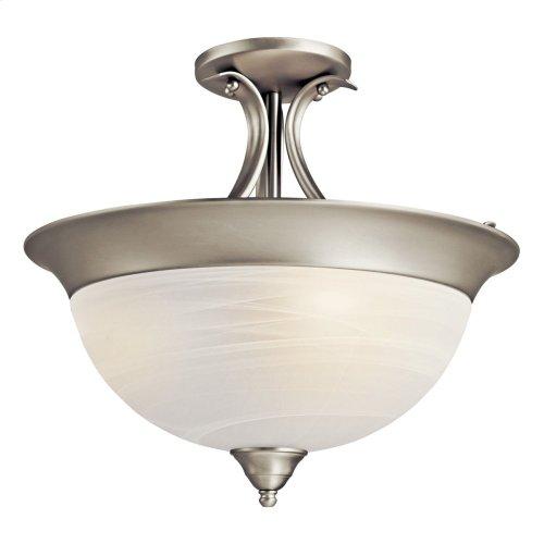 Dover 3 Light Semi Flush Brushed Nickel