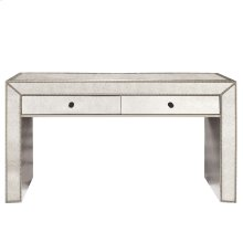 Antiqued Mirrored Console Table