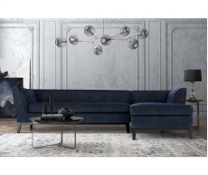 Jess Navy Textured Linen RAF Sectional Product Image