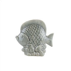 "Ceramic Fish Decor 11.5"",GRAYGRAY"