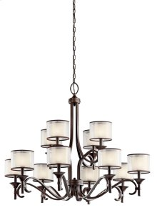 Lacey 12 Light Chandelier Mission Bronze