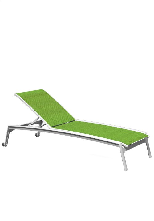 Elance Relaxed Sling Chaise Lounge with Wheels