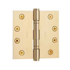 Lifetime Polished Brass Ball Bearing Hinge Product Image