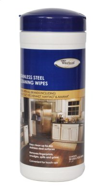 Stainless Steel Cleaning Wipes - 35 wipes
