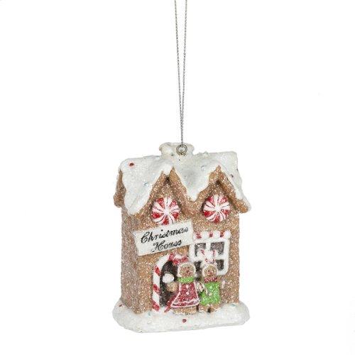 Gingerbread House Ornament. (12 pc. ppk.)