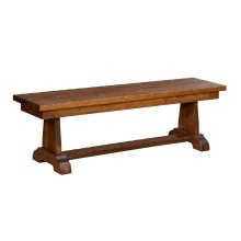 "Burwick Bench w/1-12"" leaf (non-aproned)"