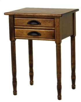 "#272 2 Drawer Lamp Table 20.5""wx17""d28.5""h"