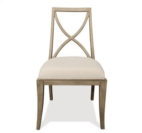 Sophie X-Back Upholstered Side Chair Natural finish