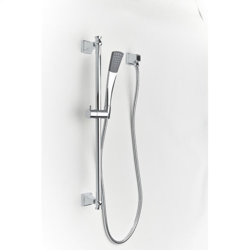 Slide Bar with Hand Shower Leyden (series 14) Polished Chrome