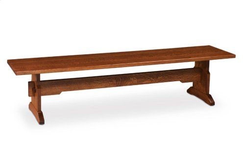 Franklin Dining Trestle Bench, Wood Seat
