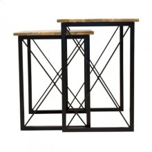 Mosaic Set of 2 Side Tables