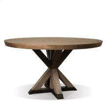 Mirabelle Round Dining Table Ecru finish