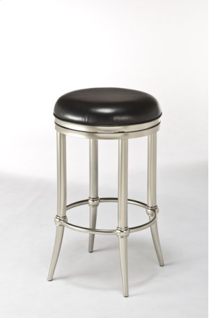 Cadman Backless Counter Stool - Dull Nickel