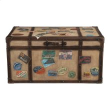 Accents Khaki Travel Trunk Cocktail