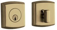 Satin Brass and Black Soho Deadbolt