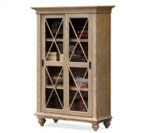 Coventry Sliding Door Bookcase Weathered Driftwood finish Product Image