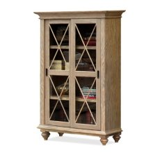 Coventry Sliding Door Bookcase Weathered Driftwood finish