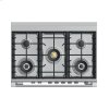 "Fisher & Paykel Dual Fuel Range, 36"", 5 Burners, Self-Cleaning"