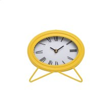 Oval Tabletop Clock Yellow