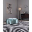 Divani Casa Colette Modern Blue Velvet Star Ottoman Product Image