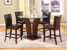 Camelia Counter Height Table & 4 Expresso Chairs