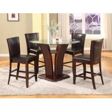 Camelia Counter Height Dining Room Set: Table & 4 Expresso Chairs