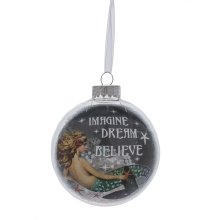 """Imagine, Dream, Believe"" Mermaid Ball Ornament"