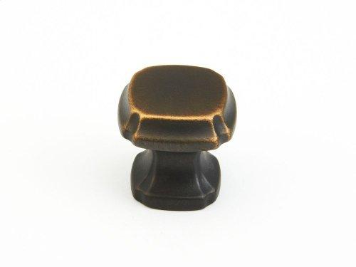 """Empire, Square Knob, 1-3/8"""" diameter, Ancient Bronze finish"""