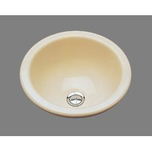 Donna - Small Round Lavatory - High Fire Vitreous China - Almond