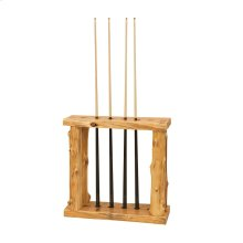 Floor Pool Cue Rack - Natural Cedar