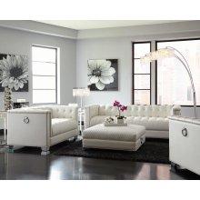 Chaviano Contemporary White Three-piece Living Room Set