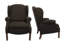 High Backed Recliner with Oak Finish Chippendale Legs