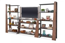 """16462, 16362, 16462 """"Live Edge"""" Industrial Entertainment Wall"""