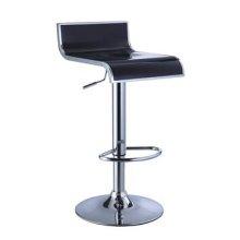 Black & Chrome Thin Seat Adjustable Height Bar Stool - 2 pcs in 1 carton