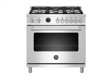 "36"" Master Series range - Electric self clean oven - 6 brass burners"