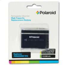 Polaroid High Capacity Panasonic D16 Rechargeable Lithium Replacement Battery