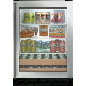ZDBT240PBS - GE Monogram® Undercounter Beverage Center with Liquid Crystal Window
