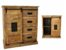 Sliding 1 Door/4 Drawer Cabinet