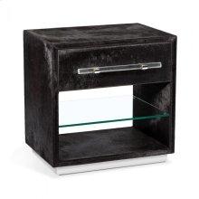 Cassian Bedside Chest - Black/ Nickel