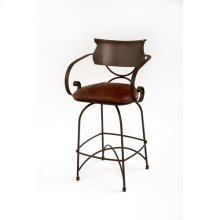 Steel Traditions - Toulon Swivel Barstool With Leather Seat