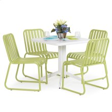 0100 Series 5PC Dining Set Apple Finish